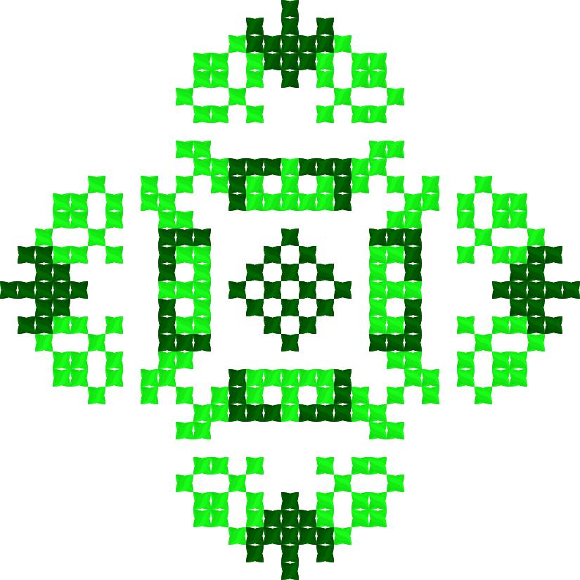 Текстовий слов'янський орнамент: Зелений