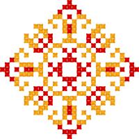 Текстовый украинский орнамент: катерина
