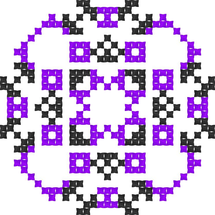 Текстовий слов'янський орнамент: Мадонна