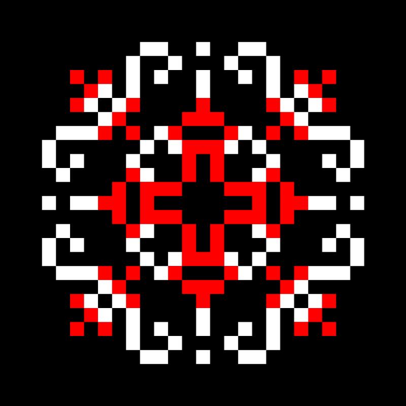 Текстовий слов'янський орнамент: ПАТРІОТ