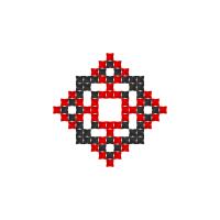 Текстовый украинский орнамент: Коля