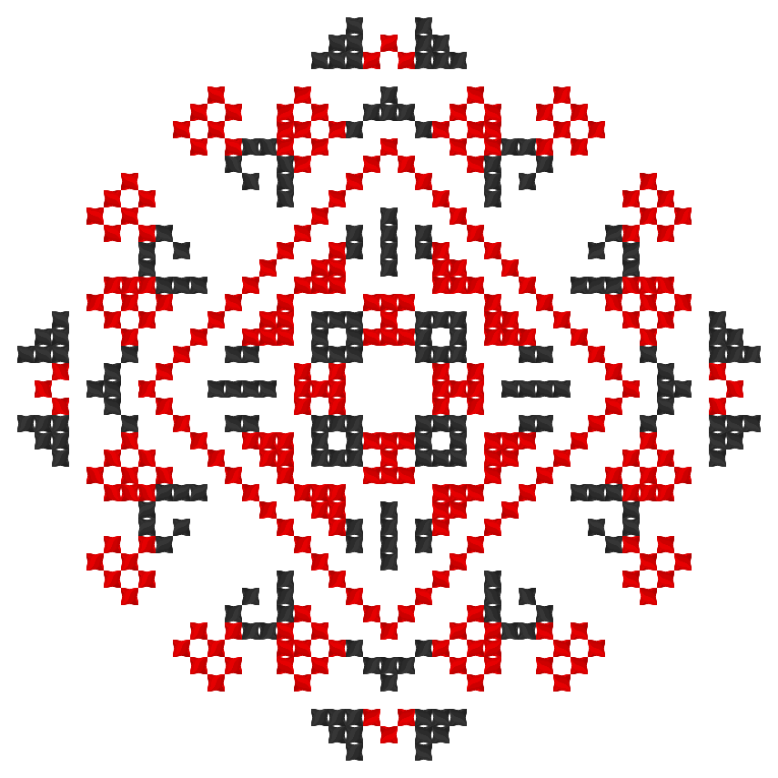 Текстовий слов'янський орнамент: Нова Адреса