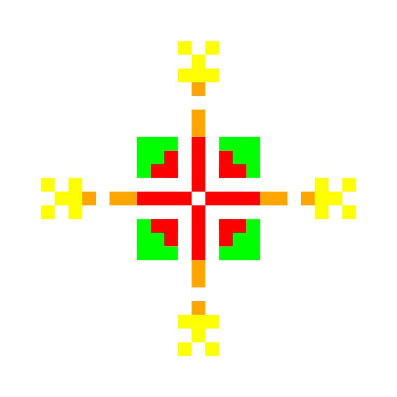 Текстовий слов'янський орнамент: Віка