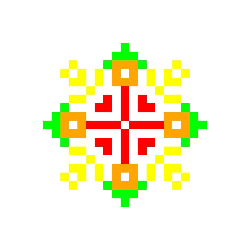 Текстовий слов'янський орнамент: Вода
