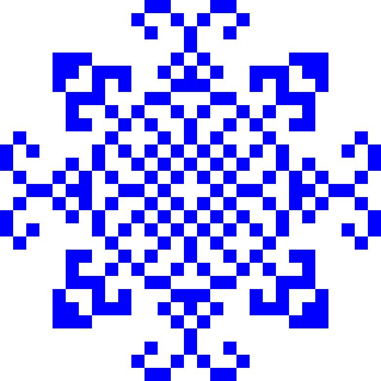 Текстовий слов'янський орнамент: Сніжинка