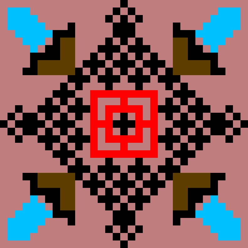 Текстовий слов'янський орнамент: Krasnii Krest