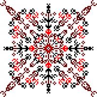 Текстовый украинский орнамент: Левый коронный, правых похоронный