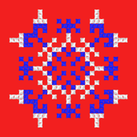 Текстовый украинский орнамент: квадрат