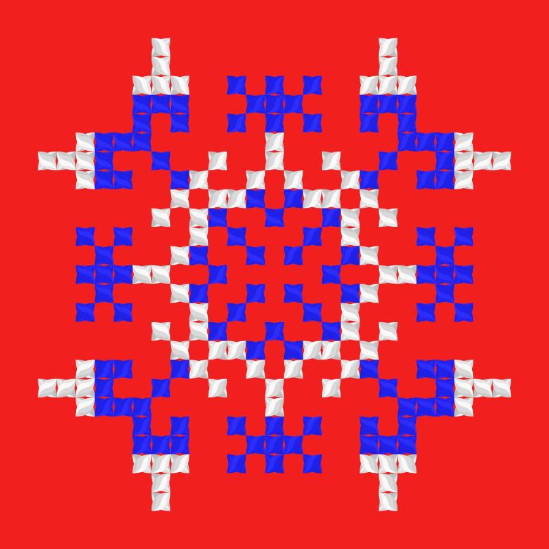 Текстовий слов'янський орнамент: квадрат