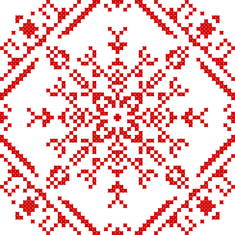 Текстовий слов'янський орнамент: На удачу дочери с каёмкой