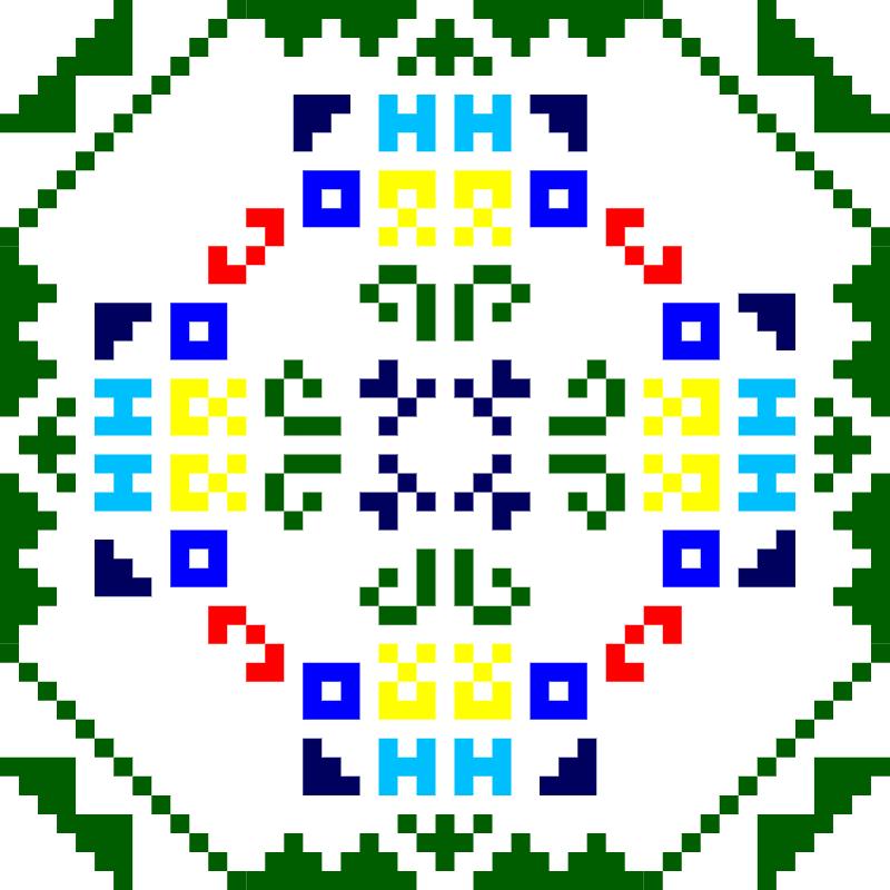 Текстовий слов'янський орнамент: Крьосная