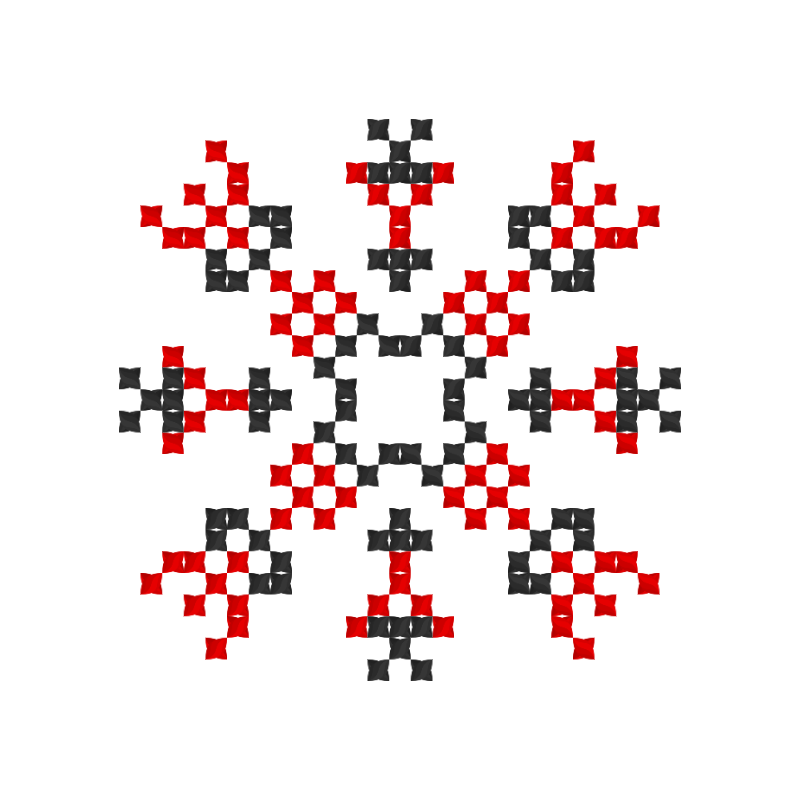 Текстовий слов'янський орнамент: петрусик