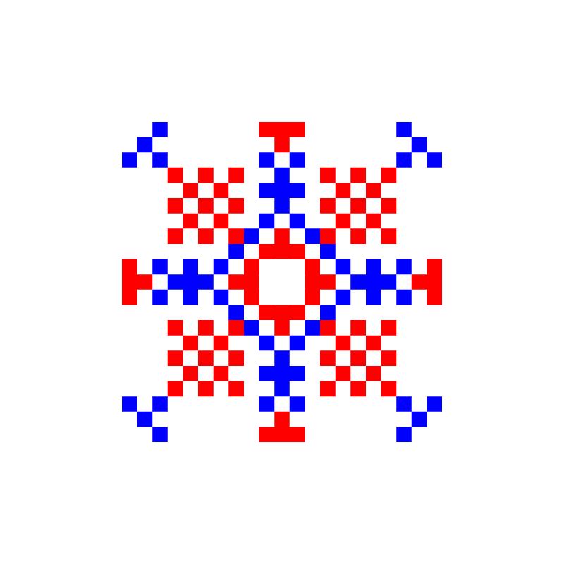 Текстовий слов'янський орнамент: златка