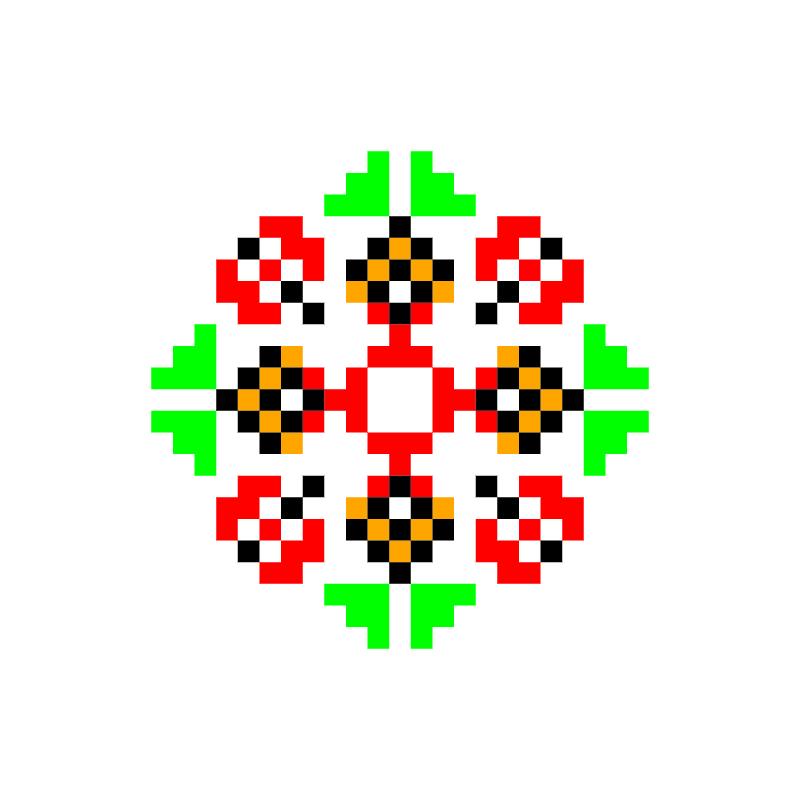 Текстовий слов'янський орнамент: Кароліна