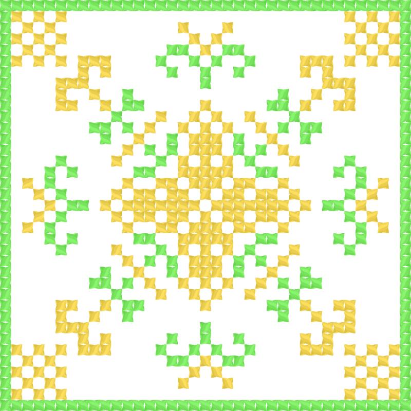 Текстовий слов'янський орнамент: серветка