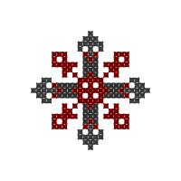 Текстовый украинский орнамент: Словянський простий