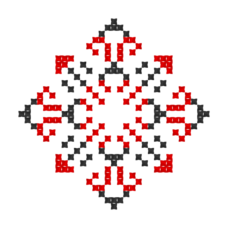 Текстовий слов'янський орнамент: Варвара
