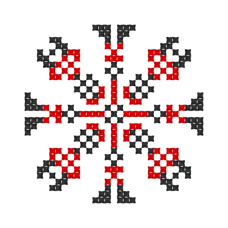 Текстовий слов'янський орнамент: Вероніка