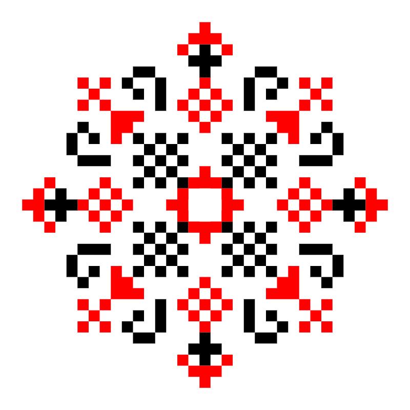 Текстовий слов'янський орнамент: Захар
