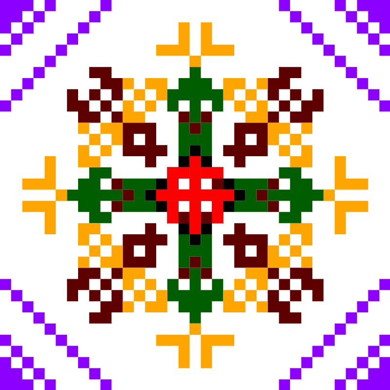 Текстовий слов'янський орнамент: Бджоли