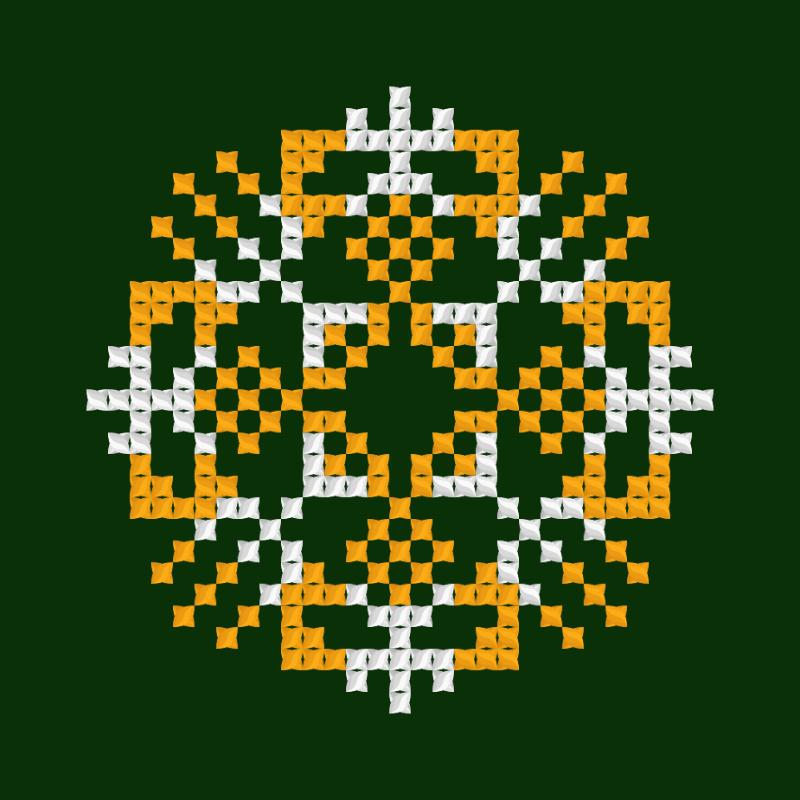 Текстовий слов'янський орнамент: Єлизавета 2
