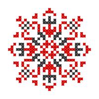 Текстовый украинский орнамент: Катерина 2