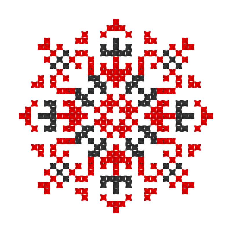 Текстовий слов'янський орнамент: Катерина 2