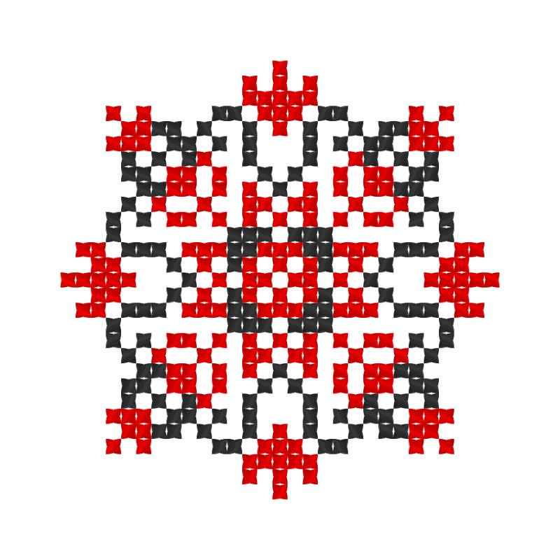 Текстовий слов'янський орнамент: Майстриня
