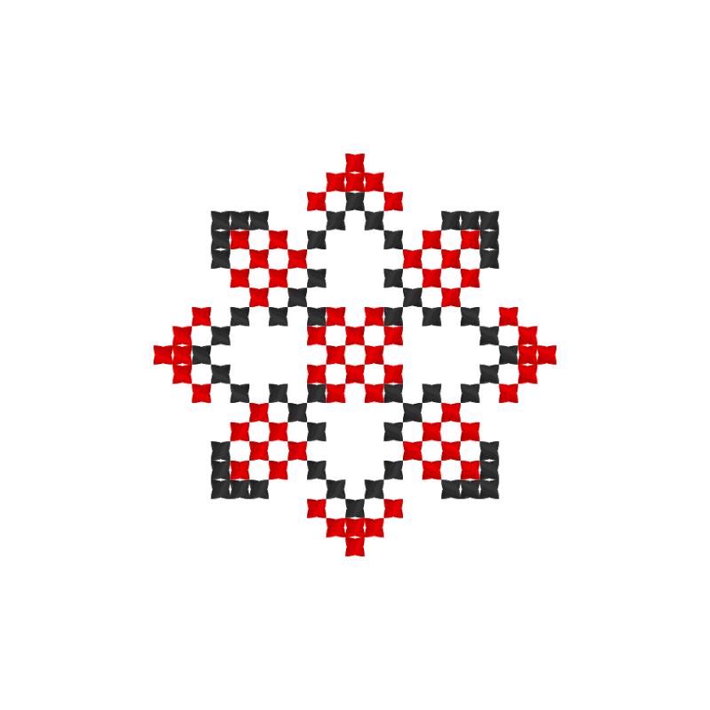 Текстовий слов'янський орнамент: Стелла
