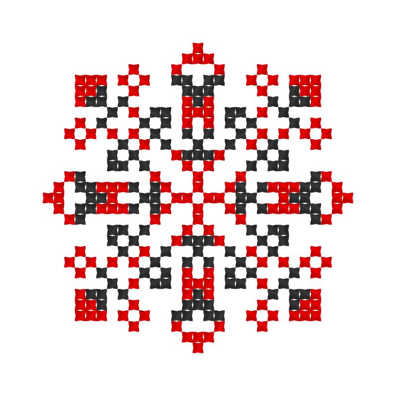 Текстовий слов'янський орнамент: Україночка