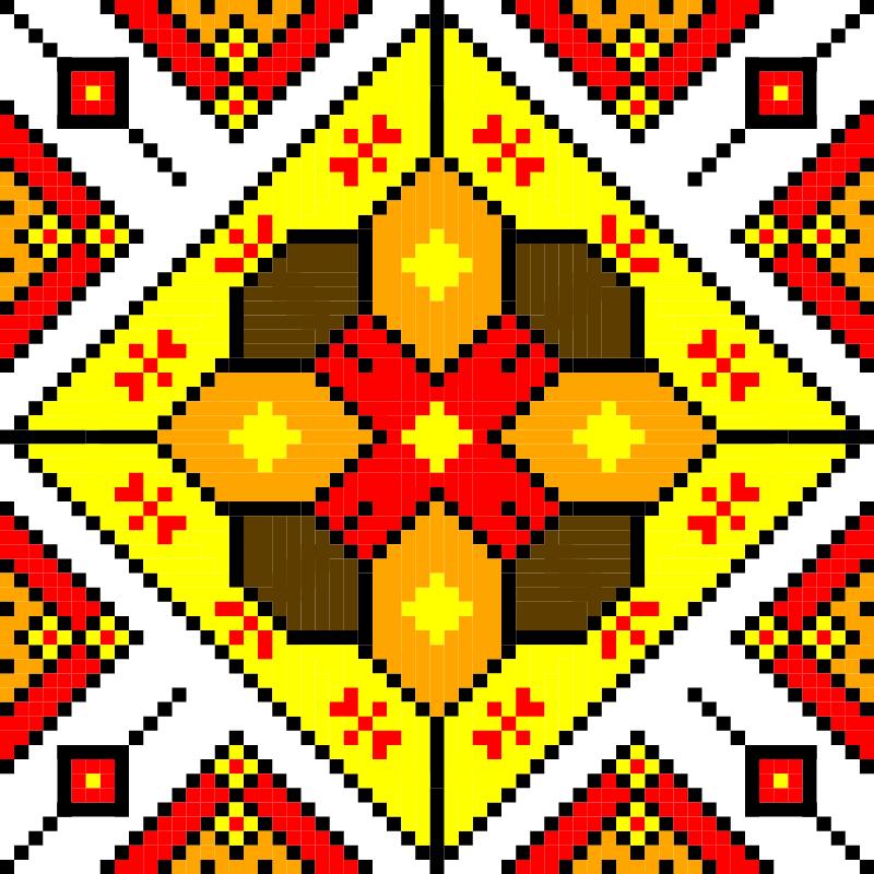 Текстовий слов'янський орнамент: Qing