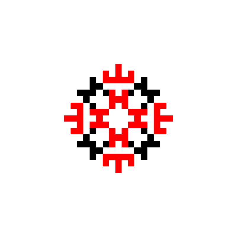 Текстовий слов'янський орнамент: мене