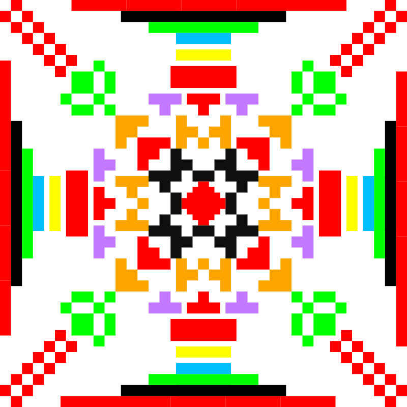 Текстовий слов'янський орнамент: мама й тато