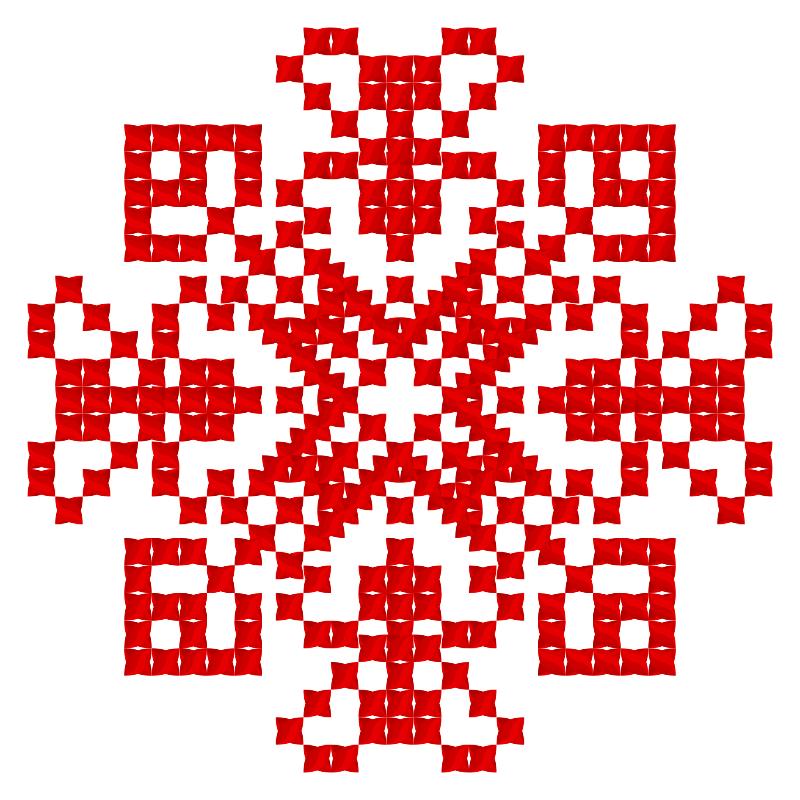 Текстовий слов'янський орнамент: Напрямок вітру