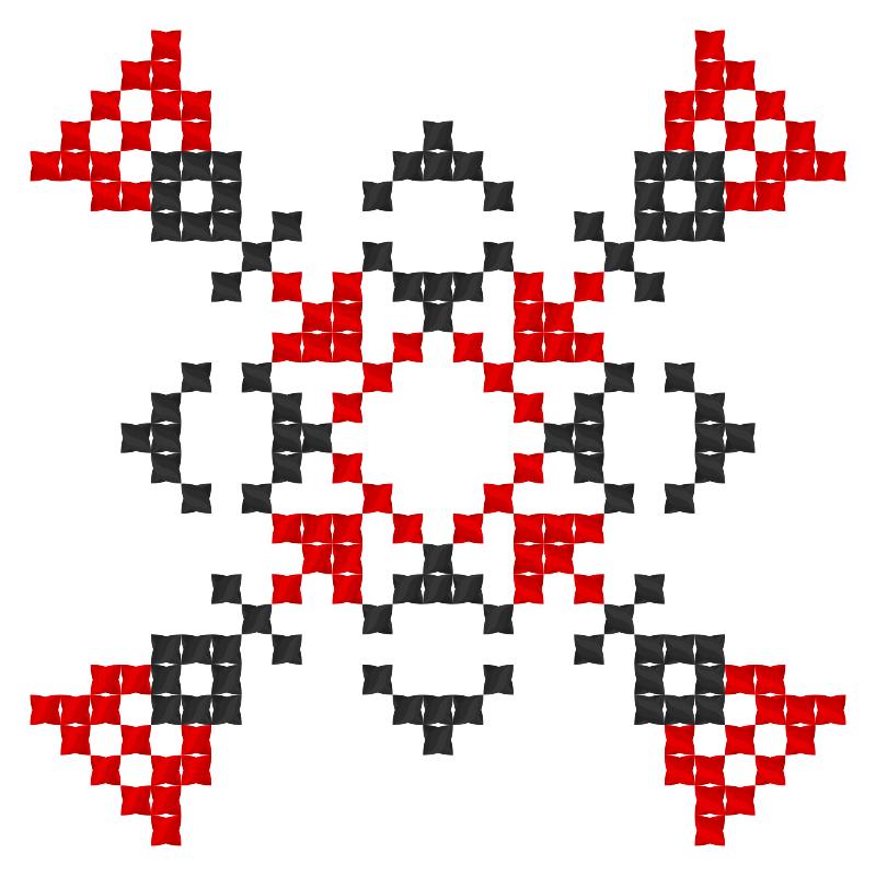 Текстовий слов'янський орнамент: Катюша