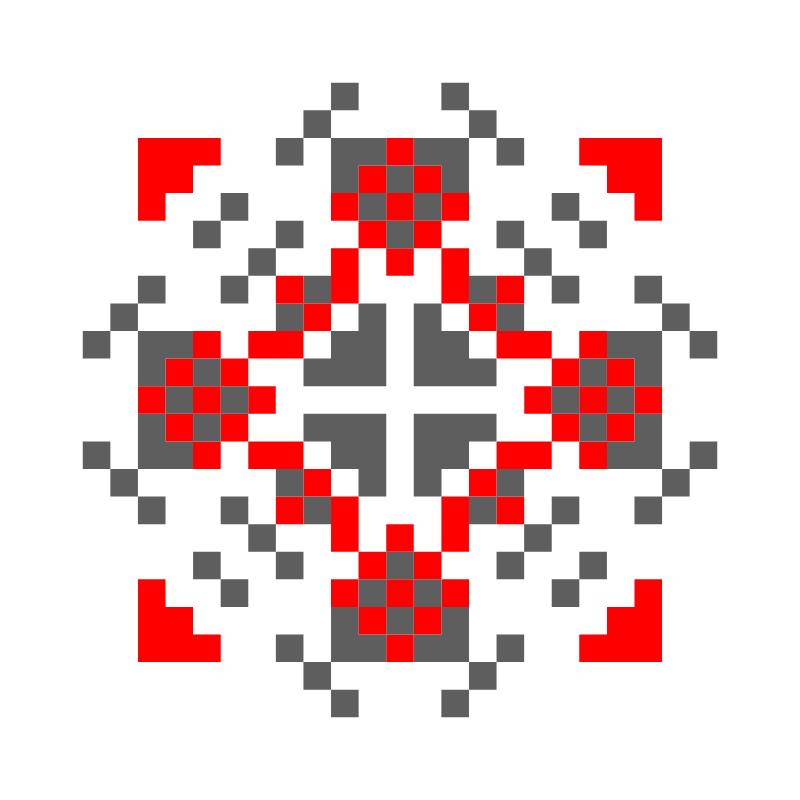 Текстовий слов'янський орнамент: Eva