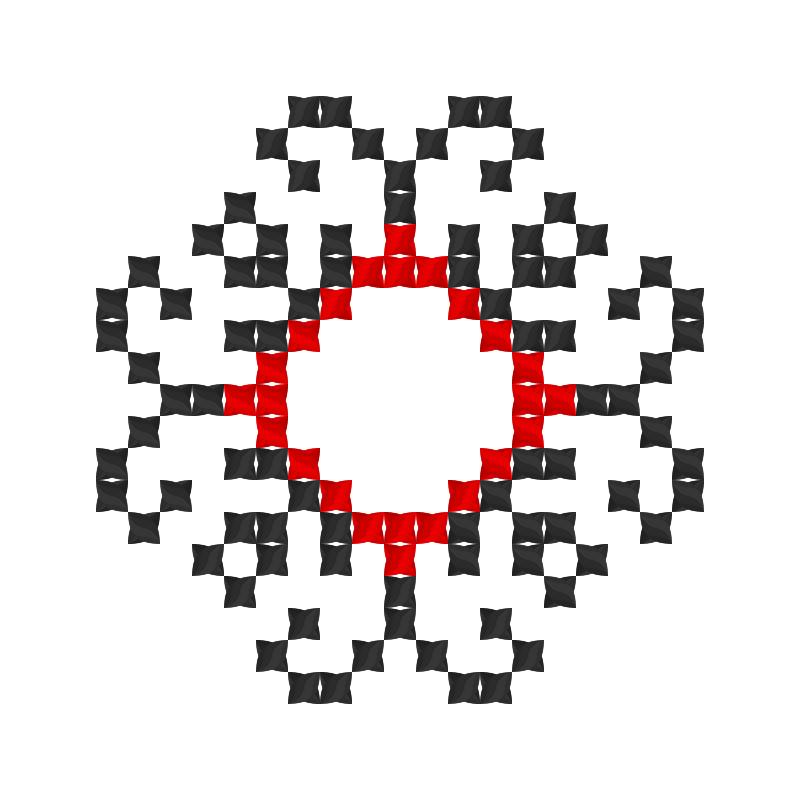 Текстовий слов'янський орнамент: abd