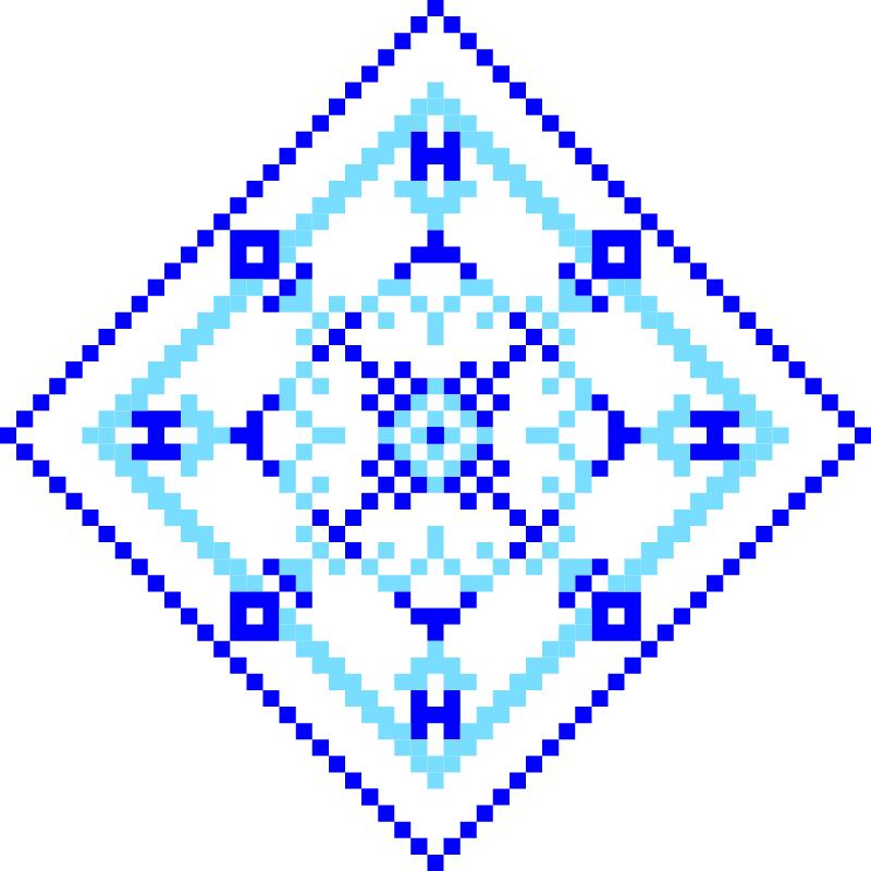 Текстовий слов'янський орнамент: 55555