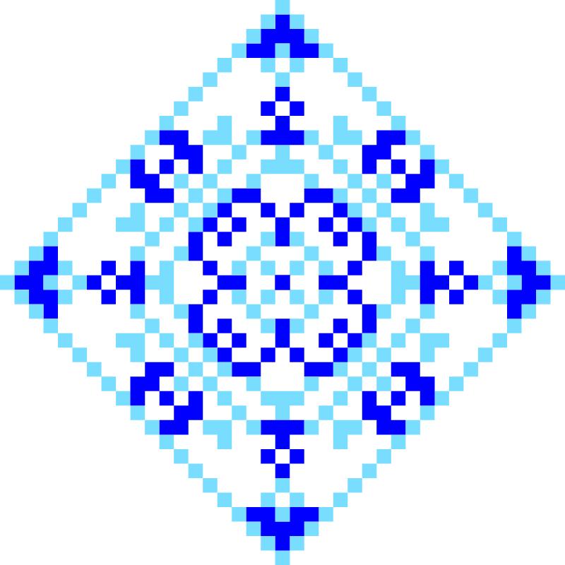 Текстовий слов'янський орнамент: батюч
