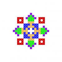 Текстовый украинский орнамент: янгол