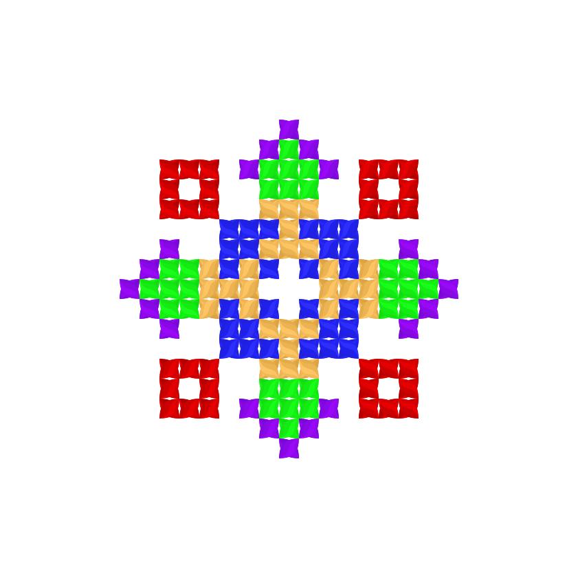 Текстовий слов'янський орнамент: янгол