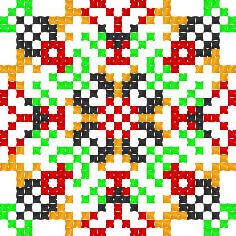 Текстовий слов'янський орнамент: Я-Є