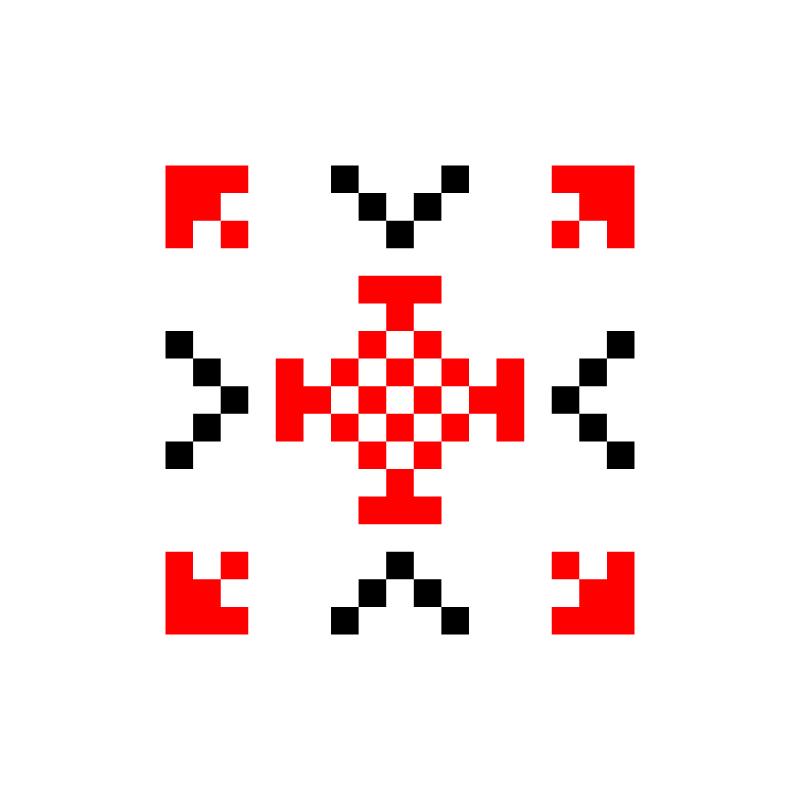 Текстовий слов'янський орнамент: цветок