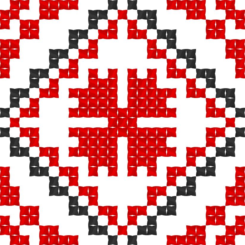 Текстовий слов'янський орнамент: Квiтка