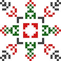 Текстовый украинский орнамент: Св. Людмила