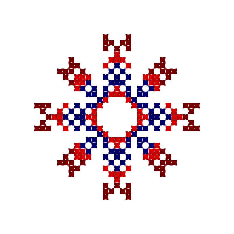 Текстовий слов'янський орнамент: АДАМ