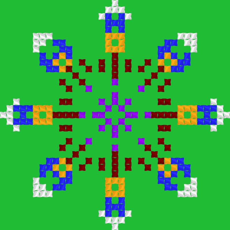 Текстовий слов'янський орнамент: ІВОНА