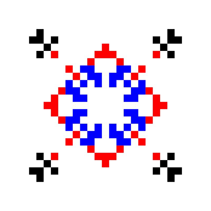 Текстовий слов'янський орнамент: Ніка