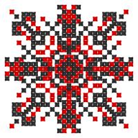 Текстовый украинский орнамент: Квітка Сон