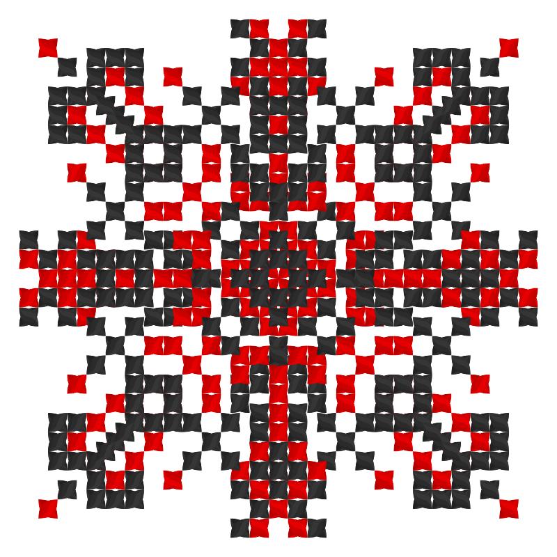 Текстовий слов'янський орнамент: Квітка Сон